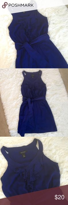 White House Black Market Dress XSmall WHBM Dress color blue size Xsmall elastic waist great condition!!!! White House Black Market Dresses Mini