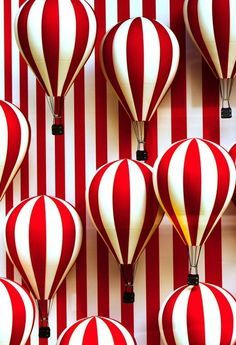 hot air balloons / red and white stripes / red pela phone case inspo / color love Op Art, Simply Red, Red Walls, Red Aesthetic, Shades Of Red, Ruby Red, Air Balloon, My Favorite Color, Red Color