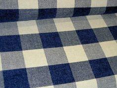 blue buffalo check fabric