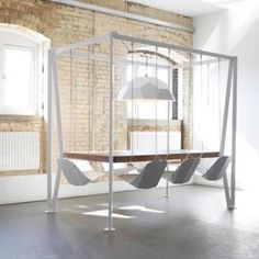 For those who have everything: Swing Table