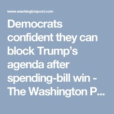 Democrats confident they can block Trump's agenda after spending-bill win - The Washington Post