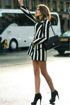 Obsessed with black and white vertical stripes right now