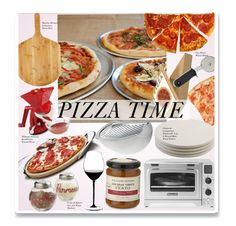 """Pizza Time"" by kusja ❤ liked on Polyvore featuring interior, interiors, interior design, home, home decor, interior decorating, Sur La Table, Alessi, Nambé and Charcoal Companion"