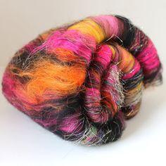 Stinger Drum Carded Wool Fiber Batt 2 ozs by SpunRightRound