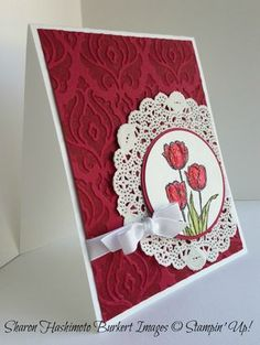 SU Blessed Easter - Raspberry Ripple *or any floral that fits (May 2, 2014)