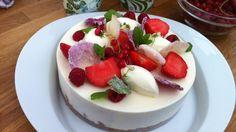 Bilderesultat for sverre sætre ostekake Cheesecakes, Frisk, Yummy Cakes, Panna Cotta, Nom Nom, Cake Recipes, Food And Drink, Sweets, Baking