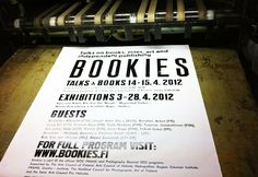 event poster by Jenni Rope   http://bookies.fi
