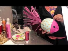 How to Make a Coconut Kissing Fish Craft Tutorial - Craft Klatch ® Fish Crafts, Beach Crafts, Crafts To Do, Crafts For Kids, Palm Frond Art, Palm Fronds, Coconut Fish, Coconut Head, Coconut Shell Crafts