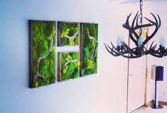 1836 Real Preserved Moss Wall Art No Sticks. No care green wall art. Real preserved moss and ferns Green Wall Decor, Green Wall Art, Green Decoration, Moss Wall Art, Moss Art, Plant Painting, Diy Painting, Deco Spa, Island Moos