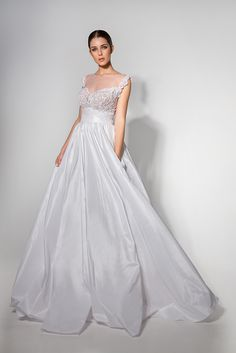 One Shoulder Wedding Dress, Campaign, Wedding Dresses, Fashion, Bride Dresses, Moda, Bridal Gowns, Fashion Styles
