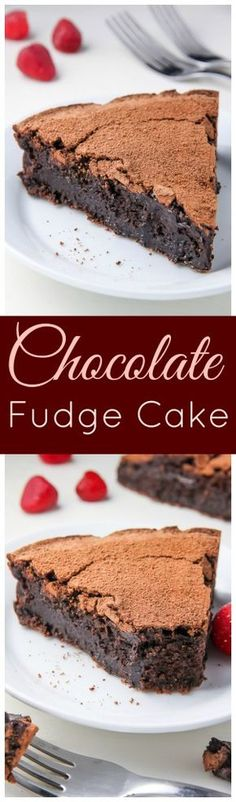 Decadent flourless chocolate cake that tastes just like a fudge brownie!