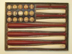 flag art with recycled baseball bats and balls