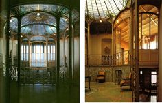 interior, conservatory in van eetvelde house, by victor horta