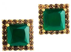 Graziela Gems - as seen on @Sherry Searles Magazine - our Fab-You-Luss studs in green onyx!