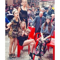 Princess Olympia of Greece and Lady Amelia Windsor hit the streets of Palermo, Italy to shoot Dolce & Gabbana's Fall/Winter 2018 millennials campaign. The Greek royal looked cozy on the Italian island of Sicily wearing a cheetah-like jacket seated in a chair, while the British royal worked it for the cameras directly behind Olympia.