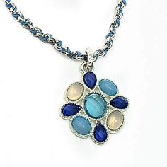 Avon Necklace Turquoise Blue Colored Custer Pendant Silver Plated  | eBay Turquoise Necklace, Beaded Necklace, Pendant Necklace, Crystal Necklace, Vintage Costume Jewelry, Vintage Jewelry, Vintage Necklaces, Red Pendants, Vintage Avon