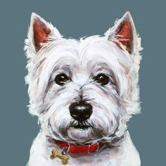 Modern Dog art print of a West Highland Terrier painting ...
