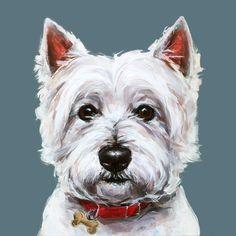 Modern Dog art print of a West Highland Terrier painting ...