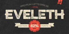 Distressed Font for Step your game only $9 Eveleth - Webfont & Desktop font « MyFonts