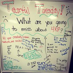 Tearful Tuesday (last day of school)