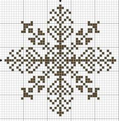 Новогодняя вышивка. Снежинки. 7