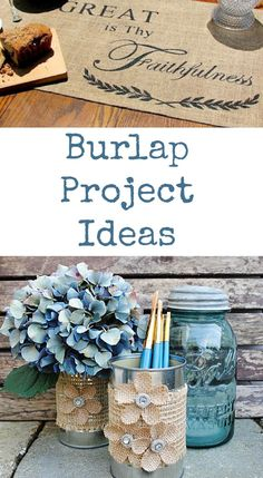 Burlap Project Ideas, nice for Fall!
