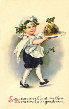 Vintage Christmas Postcard: Sweet surprises Christmas Cheer, Merry time I wish you, dear.  | Flickr - Photo Sharing!