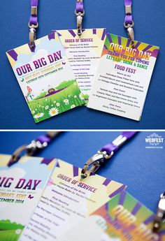 our big day wedding festival lanyards http://www.wedfest.co/our-big-day-festival-wedding-stationery/