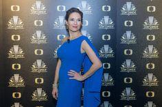 Fotogalerie: Modrou barvu si Tereza Kostková vybrala na pátý soutěžní večer. Shoulder Dress, One Shoulder, Dance, Formal Dresses, Fashion, Pictures, Formal Gowns, Moda, Fashion Styles