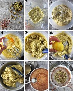 Pistachio Rose Semolina Cake Recipe - Savory Spin Semolina Recipe, Semolina Cake, Cake Recipes, Dessert Recipes, Desserts, Full Course Dinner, Sweet Potato Cupcakes, Basic Cake, Pistachio Cake