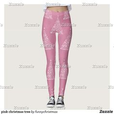 Discover leggings at Zazzle! Workout Leggings, Women's Leggings, Custom Leggings, Christmas Leggings, Ugly Christmas Sweater, Funny Xmas Gifts, Pink Christmas Tree, Gym Fashion, Fashion Outfits