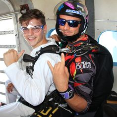 DJ prodigy Martin Garrix a few moments before an exhilarating #skydive over Palm Jumeirah Island! :) Frank Täsler #SkydiveDubai