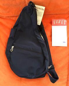 New Ameribag Healthy Back Navy Blue Nylon Travel Carry On Organize Sling Bag #AmeriBag #MessengerCrossBody