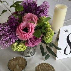 The ultimate May centerpiece - viburnum, roses, tulip and loads of lilac!