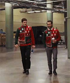 Jason Zucker! What's a nice Jewish boy like you doing in that awesome Christmas sweater?