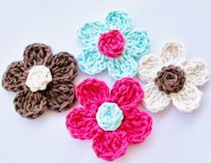 Free Easy Crochet Headband Pattern                           Five Petal Daisies    Materials:    Cotton Yarn or Yarn of Choice ...