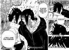 Sasuke and Itachi in naruto (manga Itachi get to say the goodbye h wanted to say to Sasuke! Itachi Uchiha, Naruto And Sasuke, Anime Naruto, Art Naruto, Naruto Team 7, Naruto Shippuden Anime, Boruto, Manga Anime, Gaara