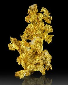 pictures of gems and minerals of portugal | Native gold; Brusson Mine, Italy I cant help feeling like i have had ...