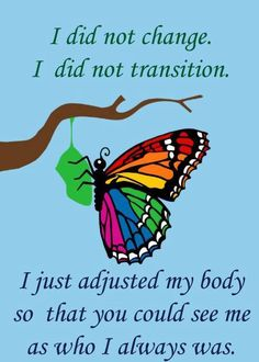 I did not change. I did not transition. #transsexuality