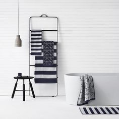 Loving this styling for Aura Home featuring the Menu Towel ladder... Available in our online boutique! #urbancouturedesigns #interiordesign