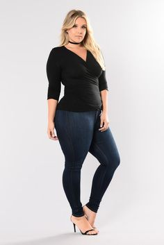 Plus Size Stretch Denim Skinny Jeans - Women Bottoms Curvy Women Fashion, Plus Size Fashion, Womens Fashion, Fashion 2018, Fashion Top, Fashion Black, Petite Fashion, Fashion Styles, Fall Fashion