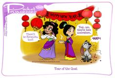 Pocket Princesses 138: Chinese New Year Please reblog, do not repost or remove credits! Facebook page