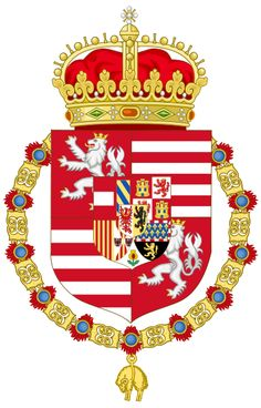 MPOWER/// Coat of arms of Ferdinand I as King of Hungary and Bohemia Holy Roman Empire, Roman Emperor, My Roots, Flags Of The World, Family Crest, Crests, Ferdinand, Coat Of Arms, 4th Of July Wreath