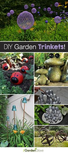 Garden Landscaping Curb Appeal DIY Garden Trinkets - A round-up full of great ideas and tutorials!Garden Landscaping Curb Appeal DIY Garden Trinkets - A round-up full of great ideas and tutorials! Diy Garden Projects, Garden Crafts, Diy Crafts Home, Outdoor Crafts, Outdoor Projects, Outdoor Stuff, Unique Garden, Easy Garden, Creative Garden Ideas
