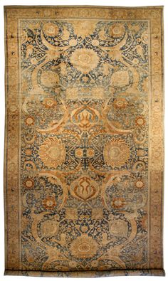 An Indian Amritsar rug BB2595 - A fine example from our collection of late 19th century Indian Amritsar antique rugs of exceptional vitality ...