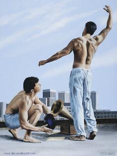 """Symphony of Summer"" - Steve Walker Canadian Painters, Canadian Artists, Early Childhood, Childhood Memories, Male Body Art, Walker Art, Devon And Cornwall, Gay Art, Artist Names"