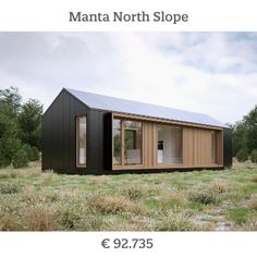 Modular Homes, Prefab Homes, Log Homes, Scandinavia House, Modern Mobile Homes, Modern Barn House, Build Your Own House, House With Porch, Chalets