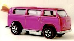 After 40 years and 4 billion sales, there's one Hot Wheel collectors dream of and it's a kombi of course.the hot pink Beach Bomb Rear Loader. Vw Beach, Pink Beach, Hot Wheel Autos, Voitures Hot Wheels, Carros Hot Wheels, Mattel, Matchbox Cars, Cabbage Patch Kids, Hot Wheels Cars