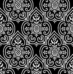 Lace Medallion ~ Black and White fabric by peacoquettedesigns on Spoonflower - custom fabric