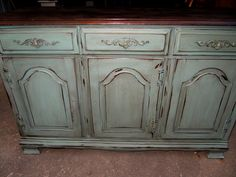 Hand-Painted Buffet